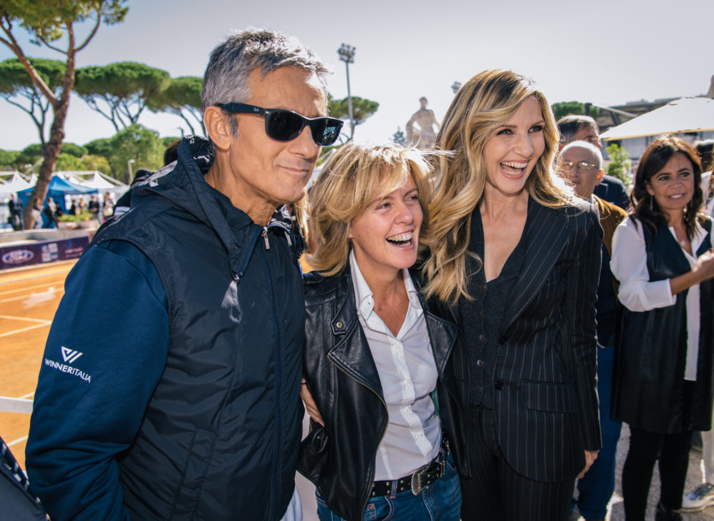 Tennis and Friends OTTOBRE_2017_Fiorello_Beatrice_Lorenzin_Milli_Carlucci