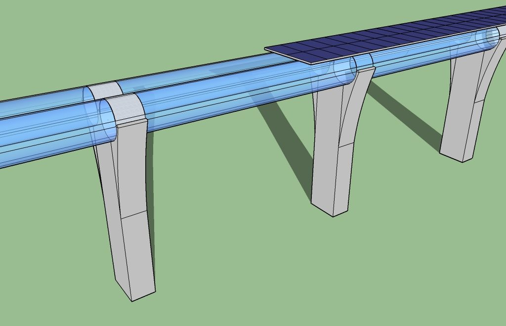 Tubo pneumatico per Hyperloop