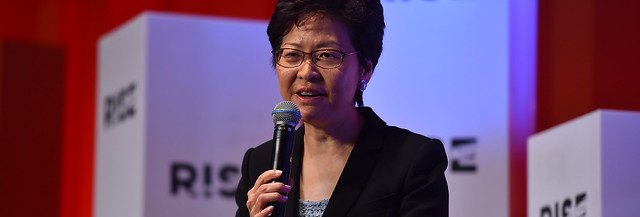 Carrie Lam. Credits to Seb Daly / RISE via Sportsfile.